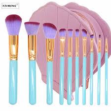 <b>10Pcs</b>/Bag <b>Professional Makeup</b> Brushes Shell Case Kit <b>Portable</b> ...
