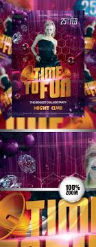 time to fun party flyer by haicamon graphicriver time to fun party flyer flyers print templates