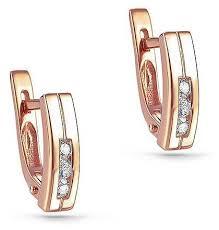 KABAROVSKY <b>Серьги с 6 бриллиантами</b> из красного золота 22 ...