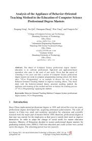 analysis of the appliance of behavior oriented teaching method in inside