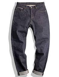 <b>MADEN Men's</b> 15oz Raw Selvedge Denim Jeans <b>Regular</b> Straight Fit