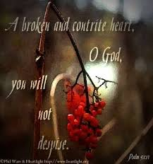 Image result for the sacrifice for the Lord is a contrite heart,