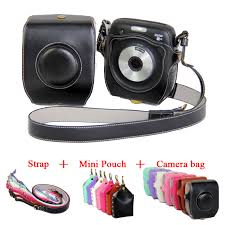 <b>New PU</b> Leather Video Camera <b>Case Cover For</b> Fujifilm Instax ...