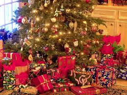Image result for presents stacked under christmas tree