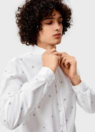 Хлопковая <b>рубашка с принтом</b> (MS5V42-00) купить за 1399 руб. в ...