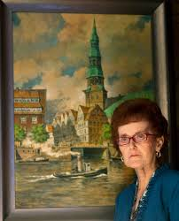 prized possessions carol umlor values painting of hamburg view full size carol umlor is pictured next to her prized possession