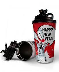 <b>Термостакан</b> ЗАЯЦ «<b>HAPPY NEW YEAR</b>»   la-print