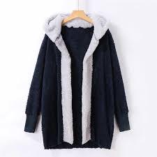 <b>2018 New</b> Fashion Women Casual Sweatshirt Solid Winter Warm ...