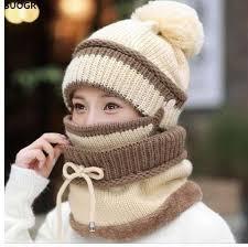 <b>SUOGRY</b> Winter Beanie Hat Scarf And Mask Set <b>Thick</b> Warm Knit ...