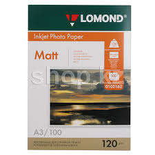 <b>Бумага</b> Lomond A3, 120г/м2, 100 листов, <b>матовая</b>, <b>односторонняя</b> ...