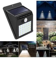 Pathway Yard <b>Waterproof Solar Power</b> Light PIR Motion Sensor Wall ...