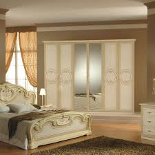 agreeable bedroom design classic with white stained wood bed with white bed cover and white nightstand agreeable design mirrored closet