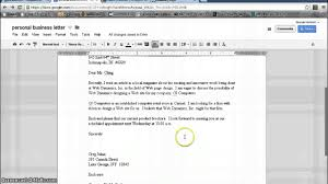 personal business letter format google documents personal business letter format google documents