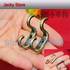 free shipping 50 pieces antique brass wall hook hat coat robe hooks antique brass 2134mm brass coat hook pieces