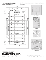football field diagram printablehigh school football field