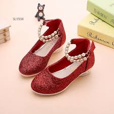 <b>girls</b> shoes <b>spring autumn</b> princess <b>black</b> red party formal pearls ...