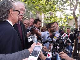 dr michael baden pba s pat lynch offer views of eric garner lawyer sanford rubenstein and dr michael baden speak to a crowd of reporters about eric garner s death photo jillian jorgensen