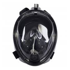 Полнолицевая <b>маска для снорклинга BRADEX</b>, чёрная S ...