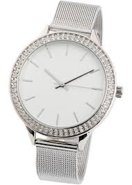 Часы с кристаллами <b>Swarovski</b>® <b>серебристый</b> - bpc bonprix ...