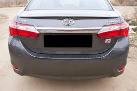 Toyota Corolla 180 (2012-2015) <b>накладка на задний</b> бампер ...