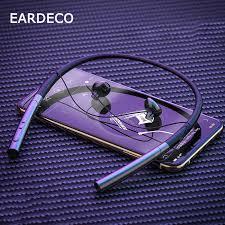 <b>EARDECO</b> Leather Neckband 24 Hours Playback <b>Bluetooth</b> ...