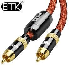 Коаксиальный аудиокабель EMK RCA-RCA, <b>кабель для сабвуфера</b>
