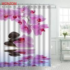 2019 <b>WONZOM Stone Waterproof Shower</b> Curtain Serenity ...