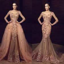 Tony Chaaya <b>2019 New Mermaid</b> Overskirts Prom Dresses Long ...