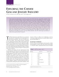(PDF) Exploring the <b>Chinese Gem</b> and <b>Jewelry</b> Industry
