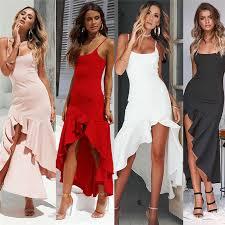 <b>S XL Women</b> Sleeveless White Color Backless Bandage Dress V ...