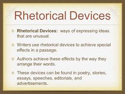 rhetorical devices analysis of literature rhetorical devices 2 rhetorical