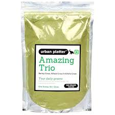 Urban Platter <b>Amazing Trio Grass</b> Powder, 300g / 10.6oz [<b>Barley</b> ...