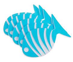 <b>Коврик для купания Доляна</b> Набор Рыбка-полосатик 5шт 2364692
