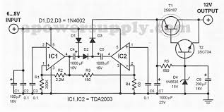 <b>6V</b> to <b>12V DC</b> Converter Circuits