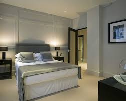 bedroom paneling ideas: interior design awesome modern bedroom design with grey headboard and wall paneling ideas appealing