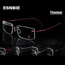 <b>ESNBIE</b> Computer <b>Rimless</b> Titanium <b>Glasses</b> Frame men Memory ...