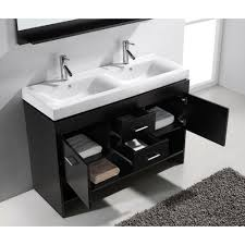 55 inch double sink bathroom vanity: vanity in espresso with  inch double sink bathroom vanity