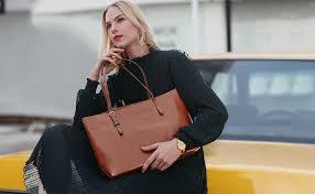 Kattee <b>Vintage</b> Genuine Leather Tote <b>Shoulder Bag</b> for <b>Women</b> ...