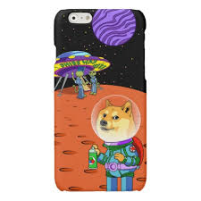 Shibe Doge Astro and the Aliens Memes Cats Cartoon Glossy iPhone 6 ... via Relatably.com