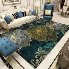 European Retro Luxury Living Room <b>Carpet Abstract 3D</b> Flower ...