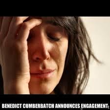 Benedict Cumberbatch Announces Engagement - crying girl sad | Meme ... via Relatably.com