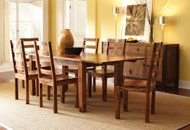 Kitchen Table With Benches Set Modern Design Solid Wood Dining Room Table And Chairs Cheerful 9