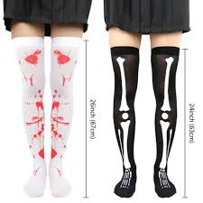 <b>Halloween Cosplay</b> Socks <b>Skull</b> Skeleton <b>Bone</b> Gloves Womens ...