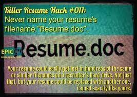 killer resume hacks epic cv killer resume hack 011 never your resume s file resume doc