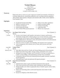 resume examples waitress resume example with skills summary and Example Resume And Cover Letter   ipnodns ru