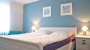 sky wall paint and white furniture apartment bedroom decoration ideas blue and white furniture