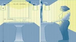design bathroom mirror height floor