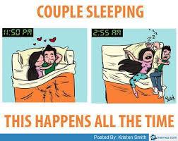 Couple sleeping | Memes.com via Relatably.com
