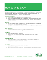 preparing a cv for job exons tk category curriculum vitae