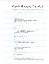 event planning checklist template resume business template event planning checklist template